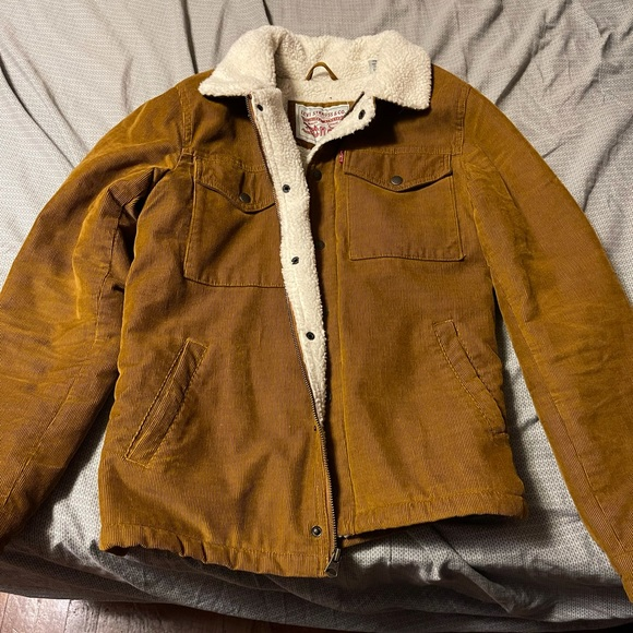 Levi's corduroy Sherpa jacket brown